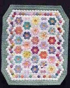 Grandmother 39 s flower garden miniature quilt quilting miniature quilts quilts mini quilts for Grandmother flower garden quilt pattern variations