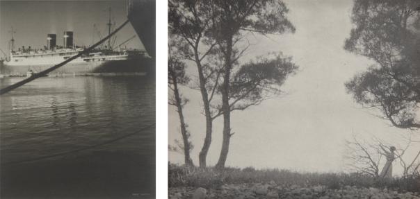 KARL STRUSS In the Harbor, San Pedro, n.d.; Untitled , 1911