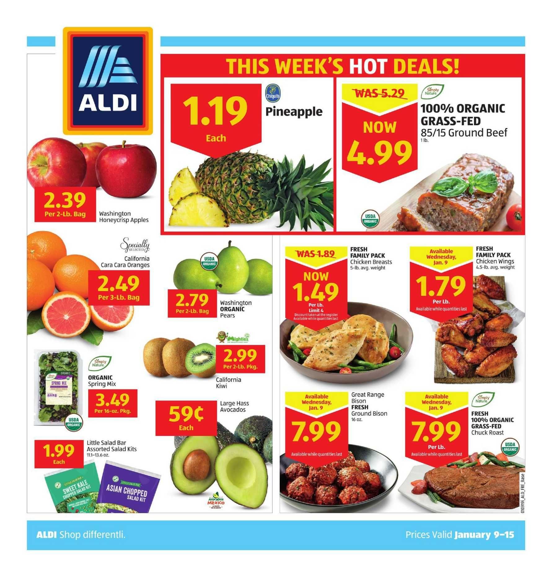 Aldi Weekly Ad Flyer September 25 October 1 2019 Weeklyad123 Com Weekly Ad Circular Grocery Stores Aldi Bakery Menu Stuffed Peppers