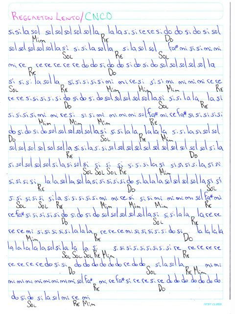 Notas Musicales Reggaeton Lento Cnco Notas Musicales Partitura Tabs Notas De Canciones Notas Musicales Canciones Para Piano