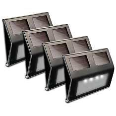 Solar power 5 34w bronze step or deck lights set of 4 deck solar power 5 34w bronze step or deck lights set aloadofball Choice Image