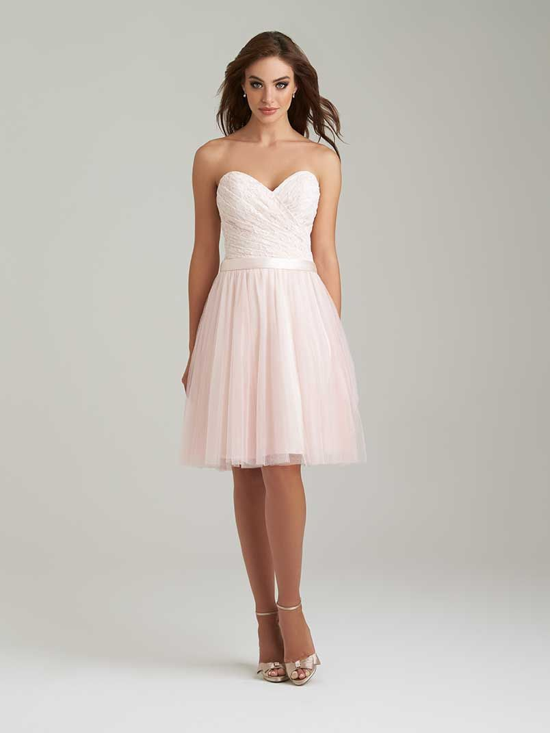 Allure bridals style 1451 lace and netting in blushlight pink allure bridals style 1451 lace and netting in blushlight pink with tulle in tulle bridesmaid dressallure ombrellifo Gallery