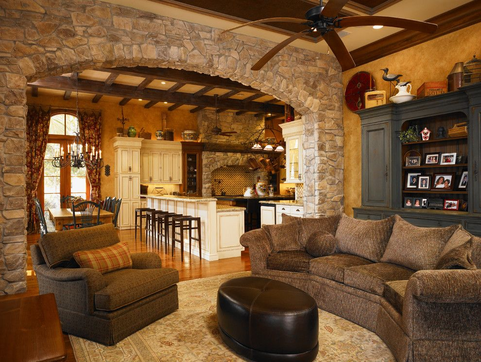 Magnificent Stone Arch House Designs Mediterranean Basement Dc ..