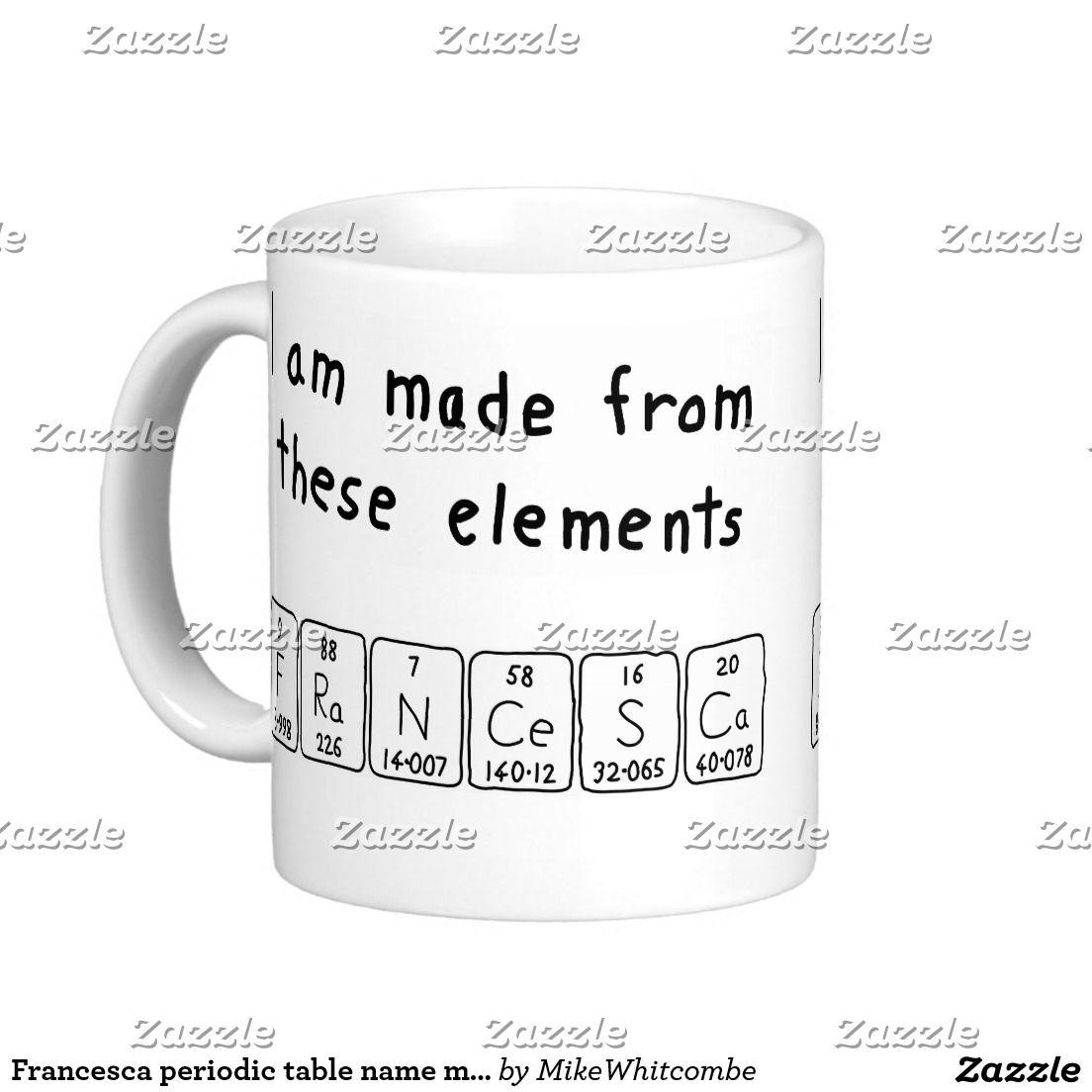 Francesca periodic table name mug periodic table francesca periodic table name mug urtaz Image collections