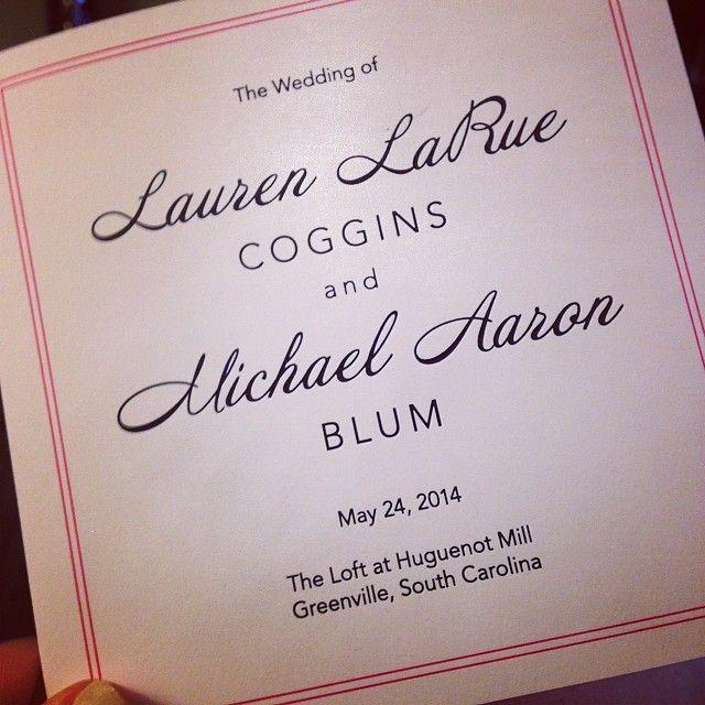 Programs are here! It's gettin' real real!! #loveMSW {Simplistic Splendor Square Tri-Fold Wedding Program}