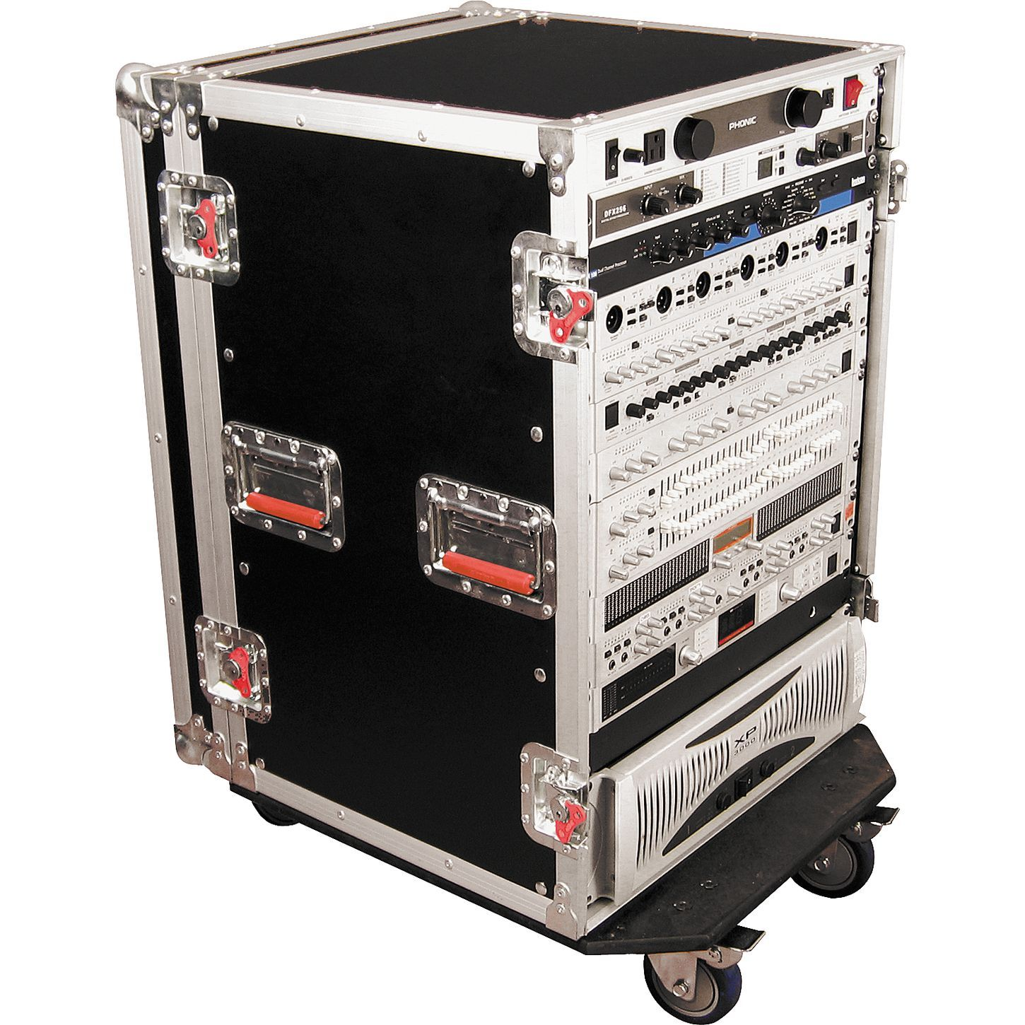 Gator G Tour Rack Road Case With Casters Road Cases Heavy Duty Caster Casters