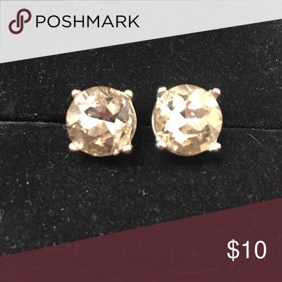 Champagne And Gold Stud Earrings These Are By Far The