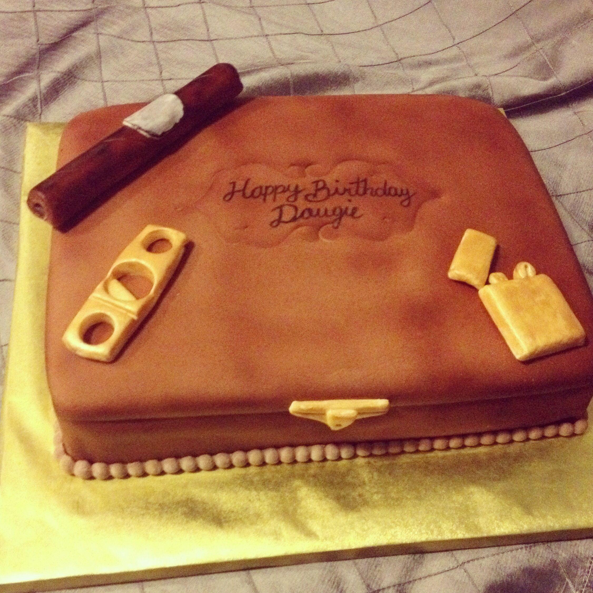 Cigar box cake | Cakes for all occasions | Cigar cake, Cigar box ...