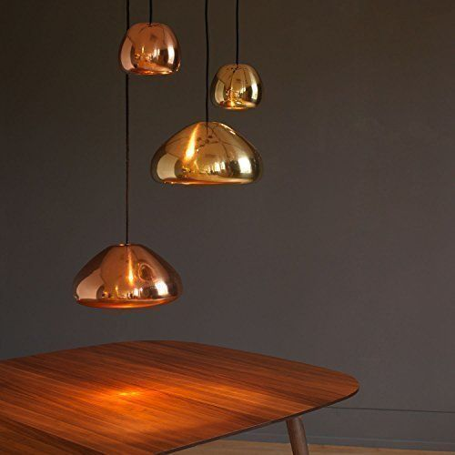 Copper Modern Retro Vintage Tom Dixon Void Replica Style Pendant Light Ceiling Lamp Shade Glass Chandeli Glass Lamp Shade Pendant Light Copper Pendant Lights