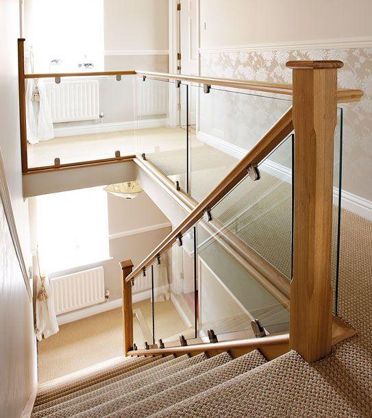 Charming Modern Oak And Glass Staircase   Neville Johnson