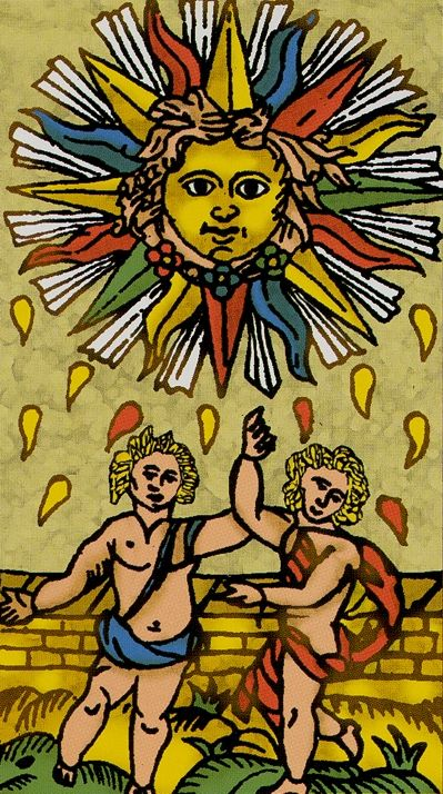 XIX The Sun - Universal Tarot of Marseille.