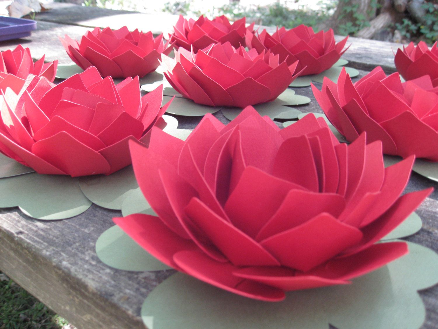 Lotus Flower. CHOOSE YOUR COLORS. Wedding, Event, Favor. Guest Table ...