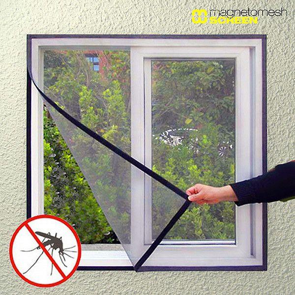 Mosquitera para Ventana Magneto Mesh Screen mosquitero Pinterest