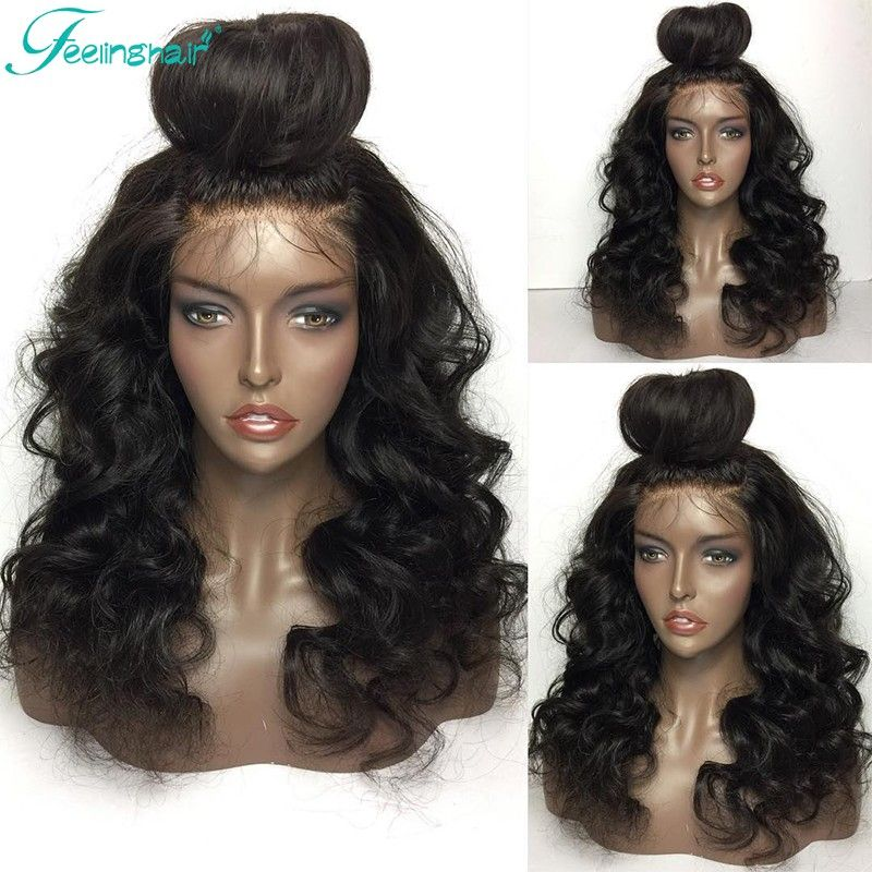 46a99d61a 7A Full Lace Human Hair Wigs For Black Women Brazilian Virgin Hair Full Lace  Front Wig Wavy Glueless Lace Front Human Hair Wigs