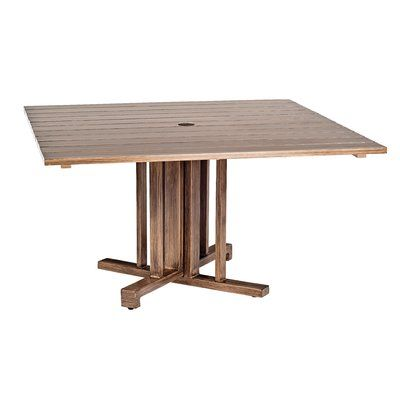 Woodard Woodlands Dining Table Frame Color Weathered White