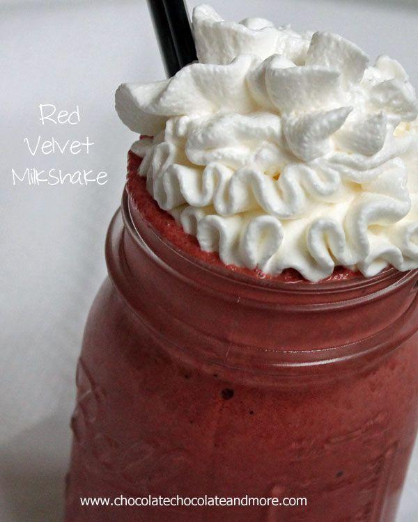 Red Velvet Milkshake Recipe Food Milkshake Recipes Dessert Recipes