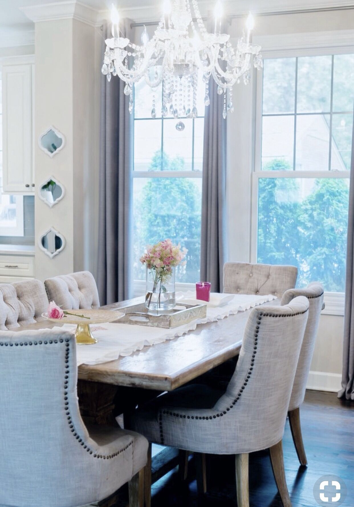 Rustic Glam Dining Room Decor Ideas White And Grey Decor