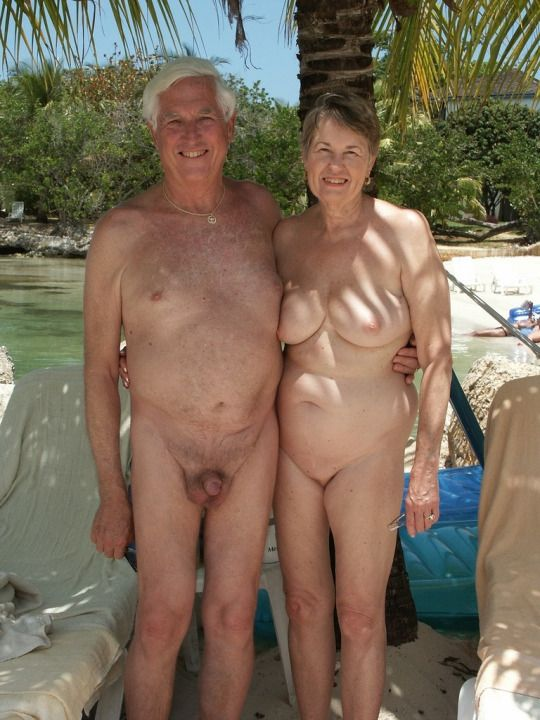older couple nude