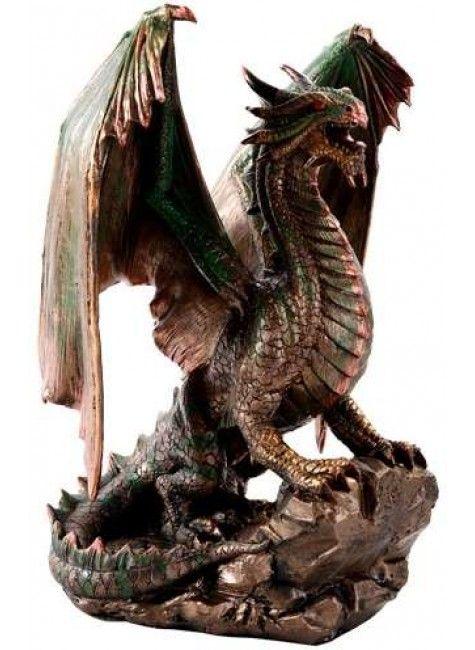 Bronzage Dragon Statue in 2020 | Dragon statue, Bronze ...