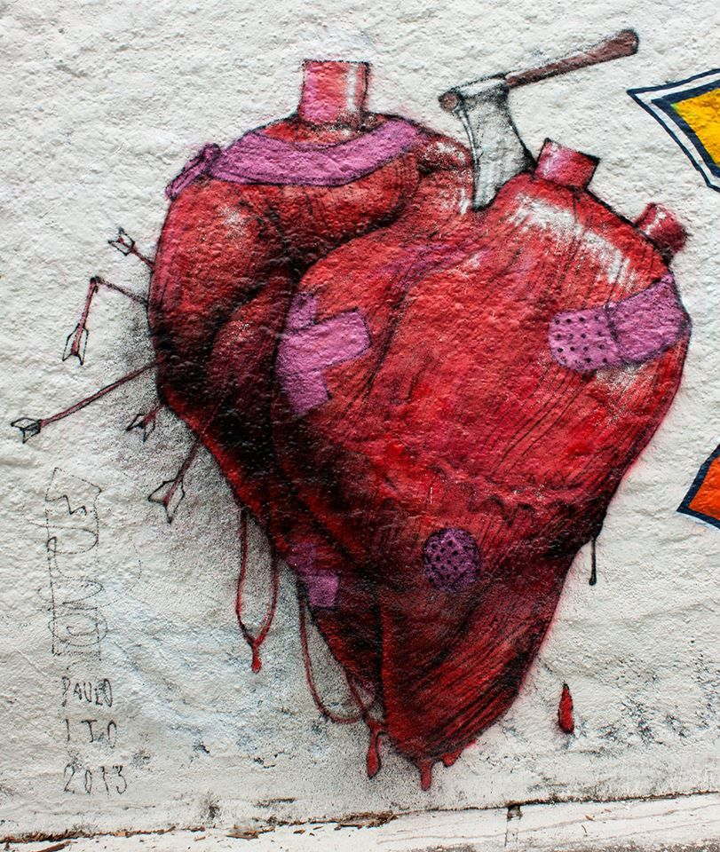 Dia Dos Namorados Paulo Ito Coracao Desenho Arte De Rua