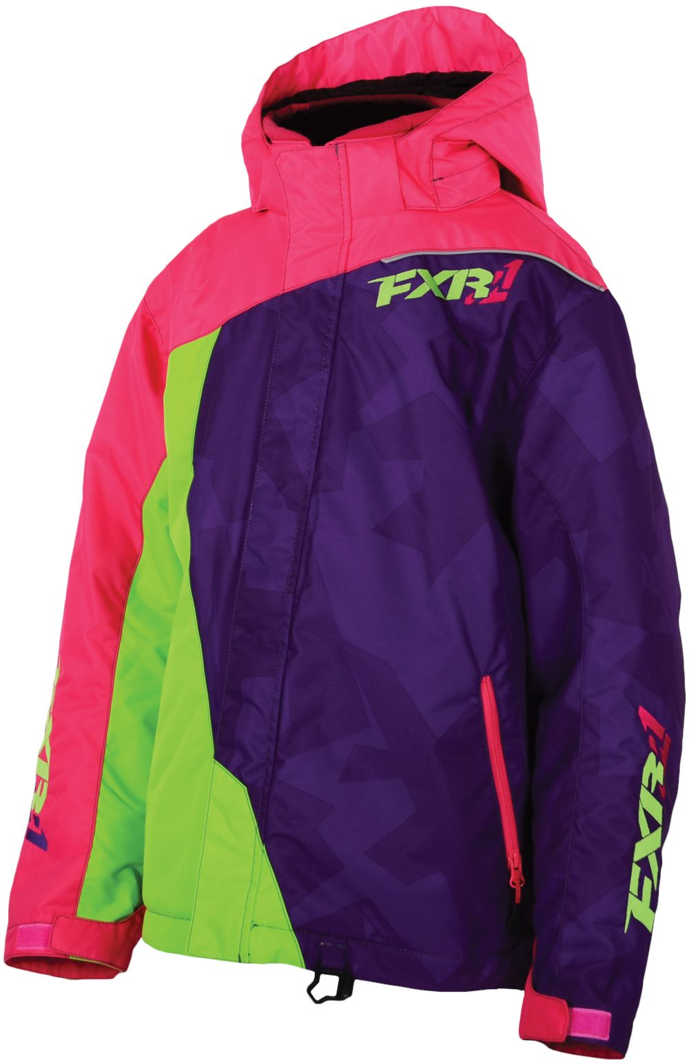 FXR Racing - 2015 Snowmobile Apparel - Child/Youth Vertical Jacket…