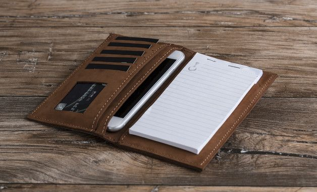 **[Leather Wallet Cover IPhone7 and Notepad ]** • This