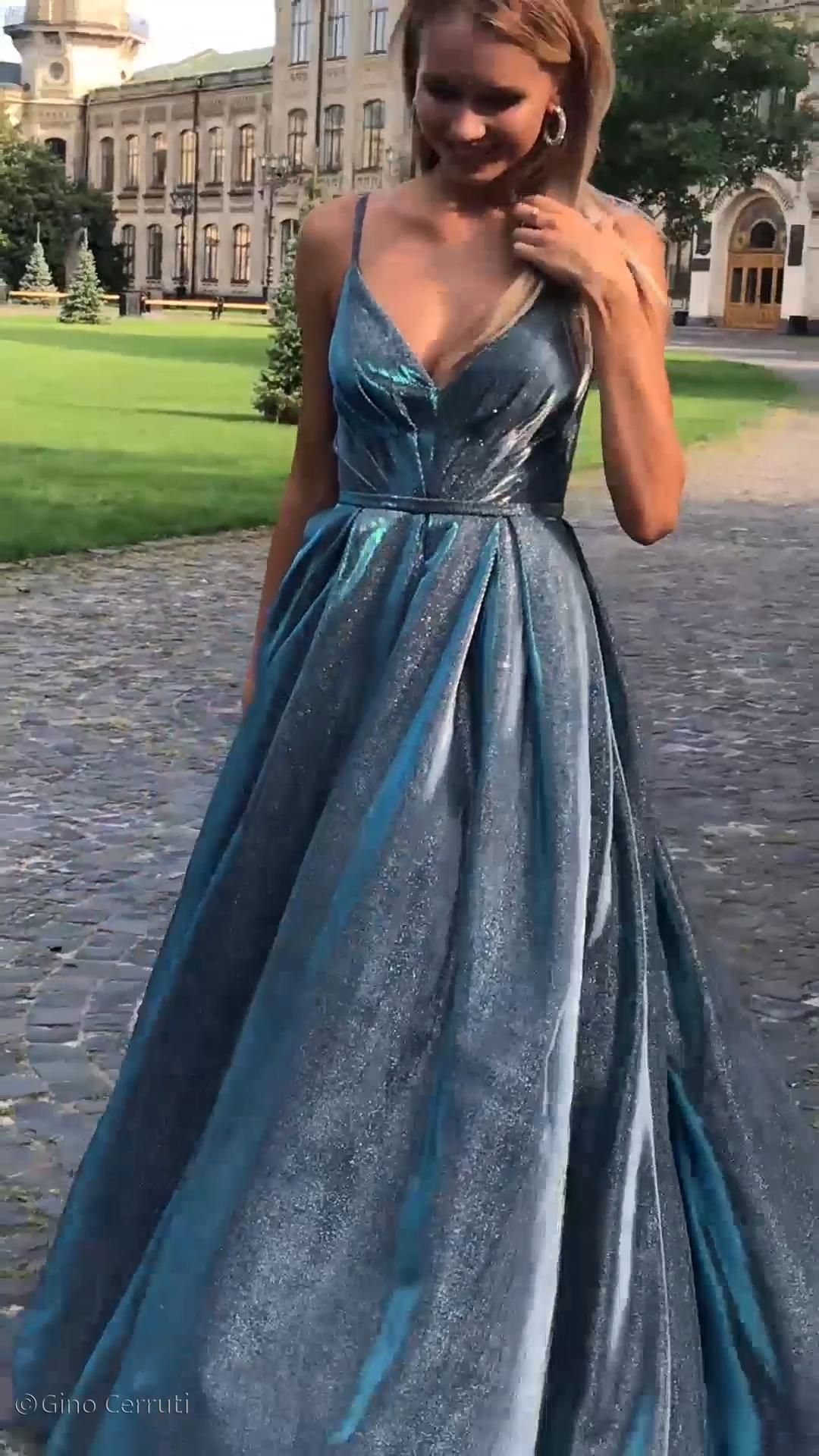 The prom dress to beat all prom dresses! Make a statement and turn some heads in this shiny, sparkly ballgown 😍✨ #promdress