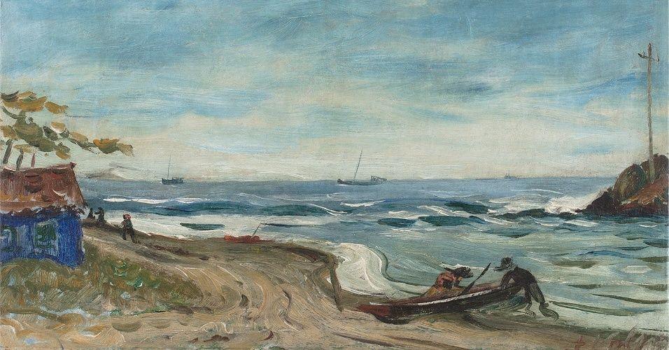 Marinha de Itanhaem. Anos 1930. Alfredo Volpi (1896-1988). Pintor  ítalo-brasileiro. a8c34bd807403