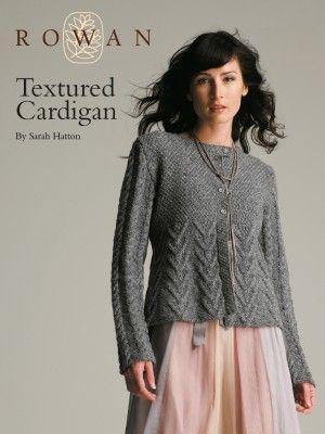 Rowan Textured Cardigan Knitting Pinterest Rowan Knit