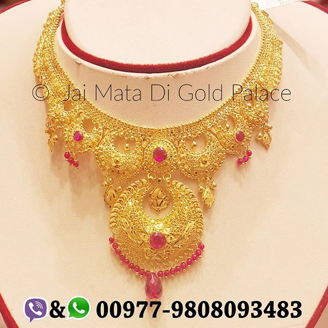 Name Ramleela Necklace Code 677 Weight gram 35 63 Carat 24