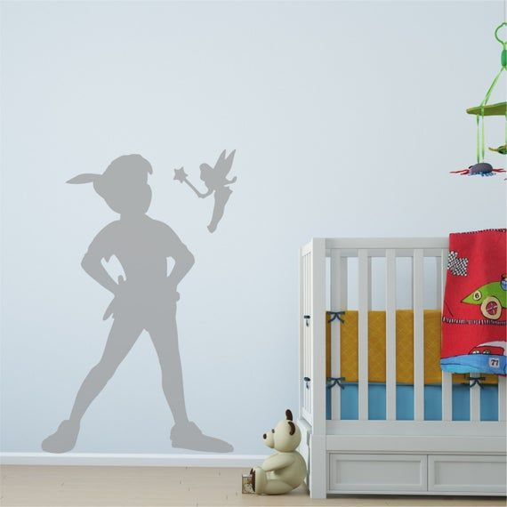 PETER PAN SHADOW Removable Vinyl Wall Decal Stickers Home room Decor Art S