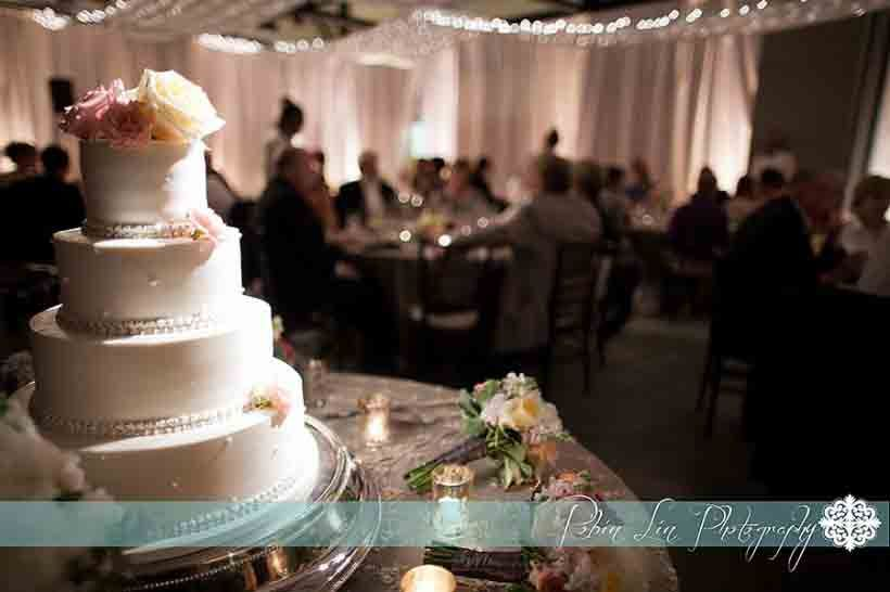 This Wedding Cake Really Stands Out When Spot Lit At The North Carolina Botanical Gardens Event LightingChapel HillGarden