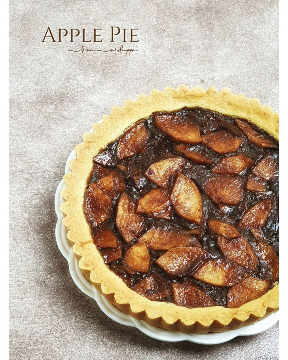 Resep Apple Pie Instagram Pie Apel Pai Saus Apel
