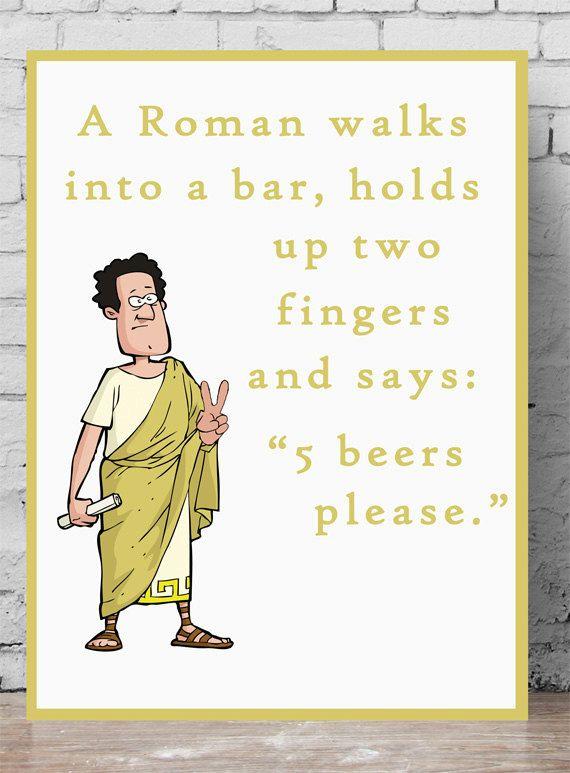 Maths Poster Roman Numerals Joke By Palaeoprintsstudio On Etsy