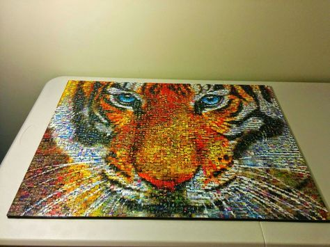 How to Mount (or frame) a #Jigsaw #Puzzle Without Glue - Two 1000 ...