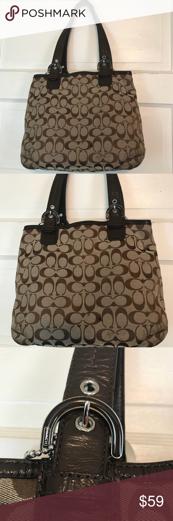 Coach Soho Brown Shoulder Bag RARE Purse Handbag Coach Sogo