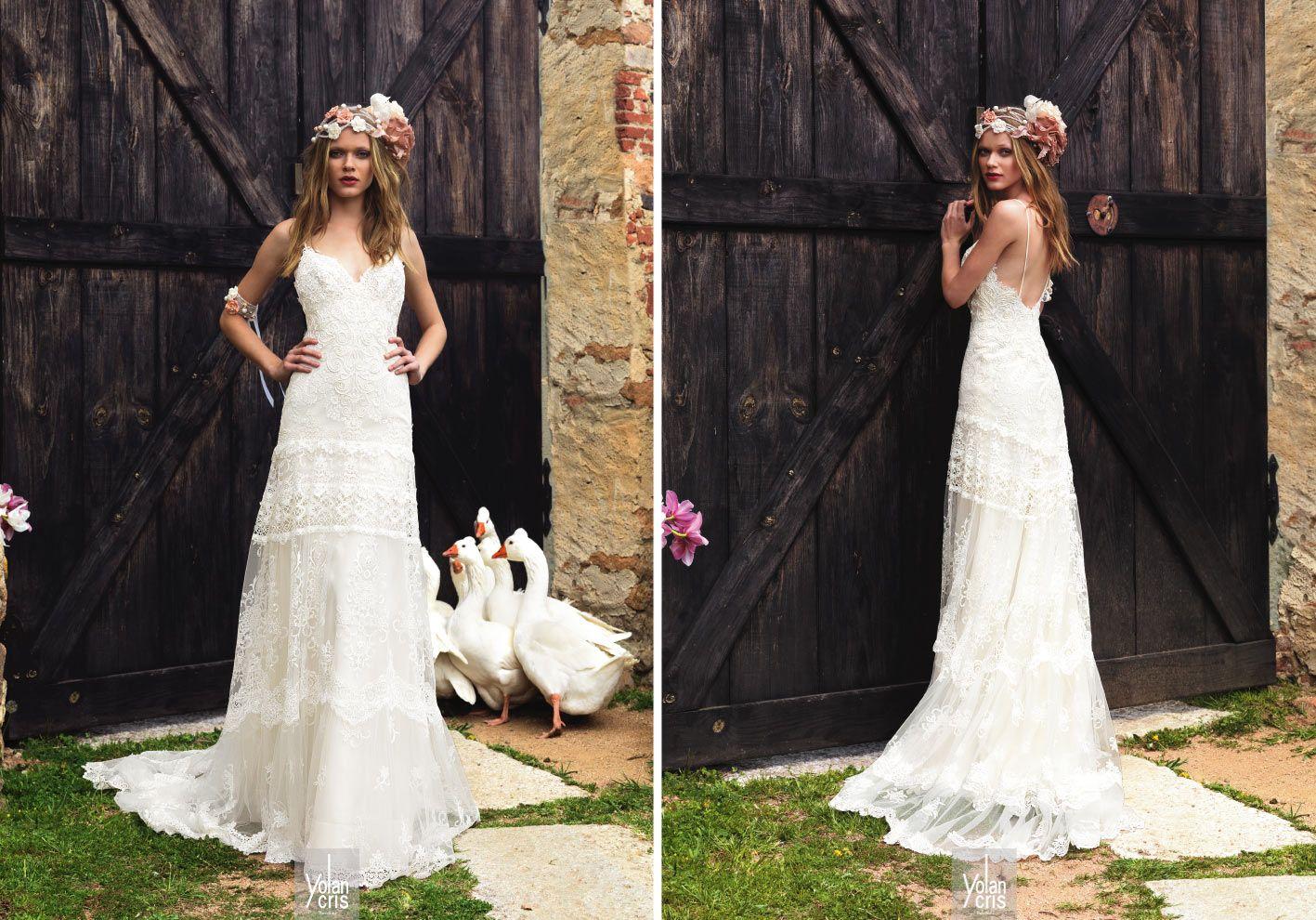 Yolancris bohemian wedding dresses wedding gown pt
