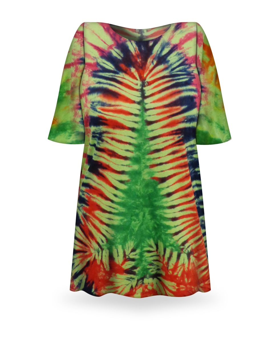 b0e50d7b Christmas Tree Tie Dye Plus Size T-Shirt + Add Rhinestones L XL 2x 3x 4x 5x  6x