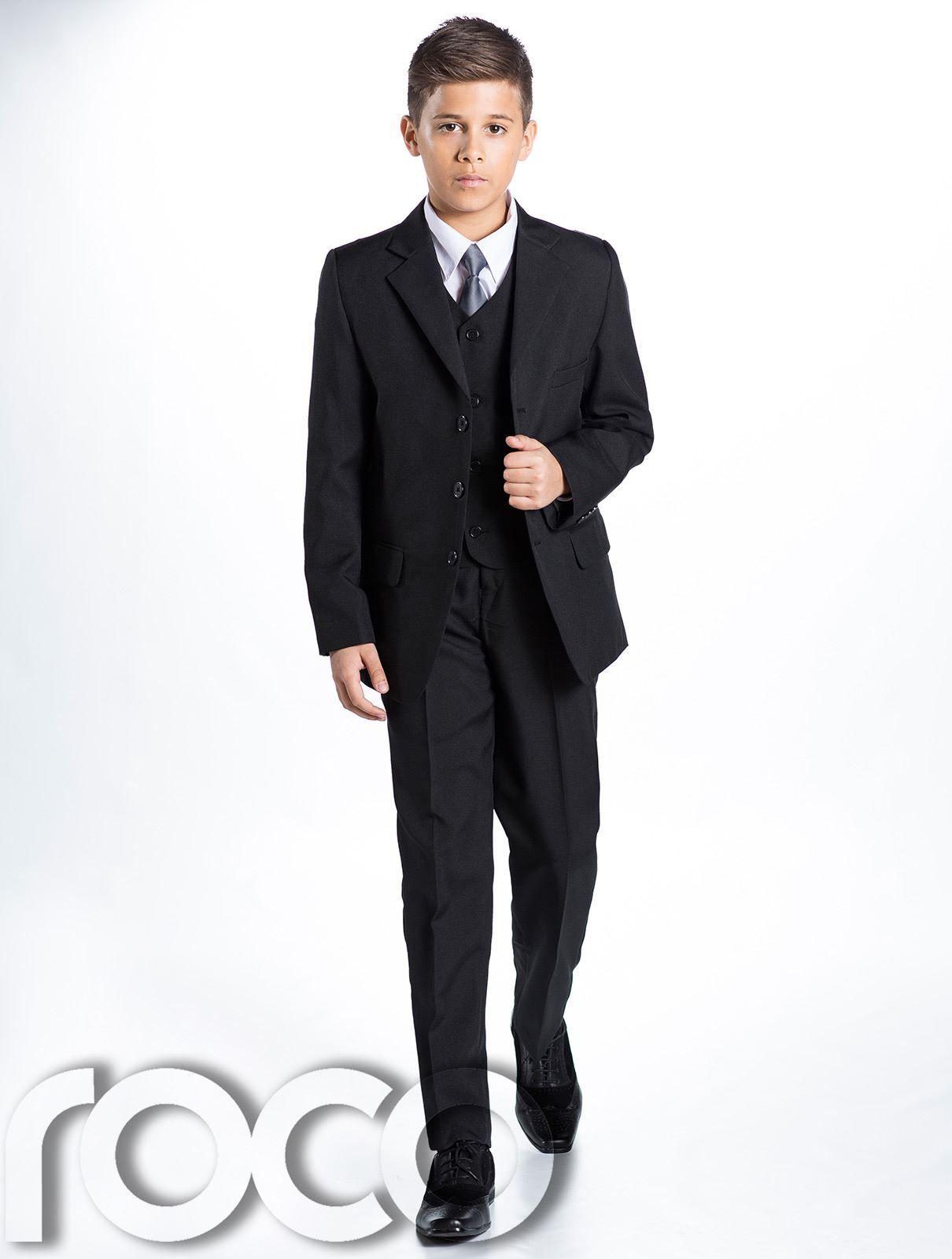 Boys Navy Suit, Boys Black Suit, Page Boy Suits, Prom Suits, Boys ...