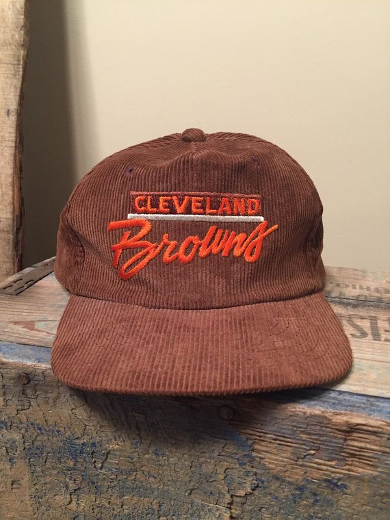 921975eb Crazy awesome Corduroy hat // Vintage Cleveland Browns hat ...