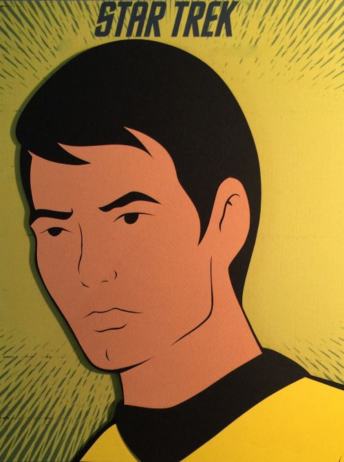 Star Trek The Animated Series: Sulu Paper Cut-Out - DocGold13