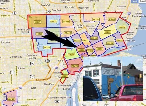 detroit map by zip code Detroit Zip Codes Detroit Map City Heights Livonia detroit map by zip code