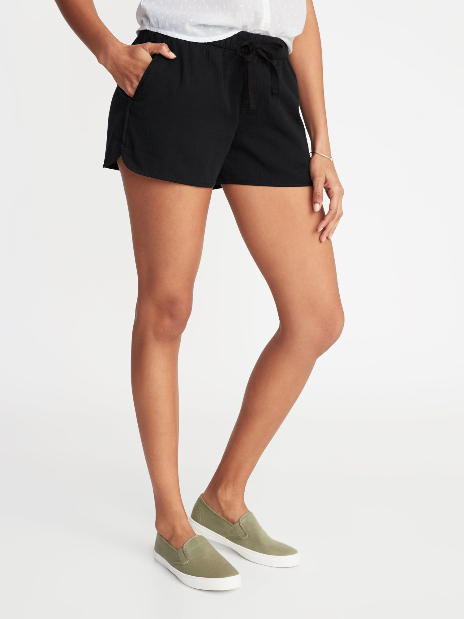 ca7e0d28f4d36 Mid-Rise Twill Pull-On Shorts for Women - 4-inch inseam in 2019 ...