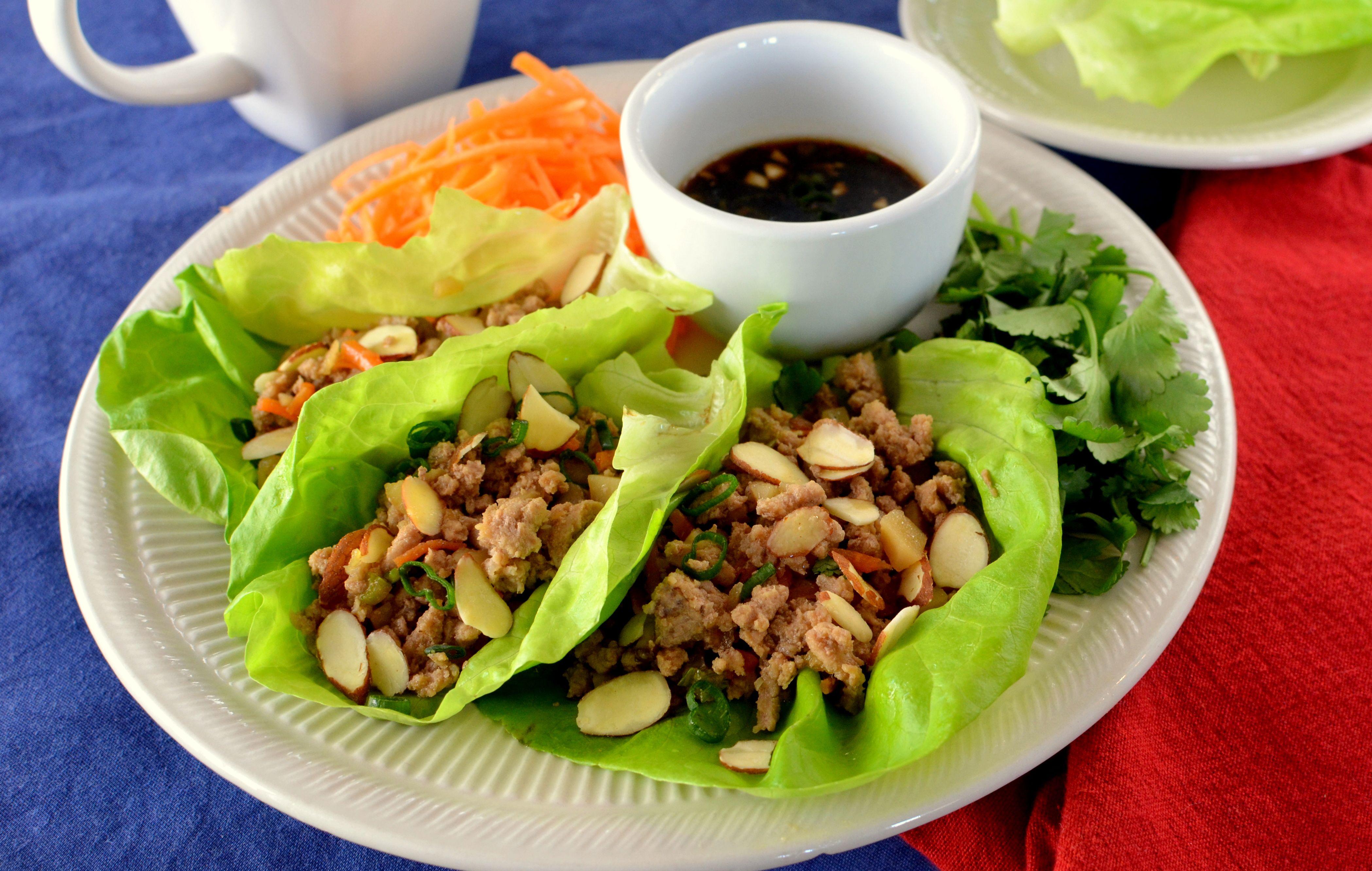Gluten free asian lettuce wraps asian lettuce wraps pf
