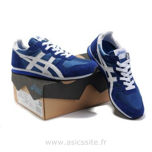 Asics pas cher cours Corrido Sneakers Chaussures Bleu Blanc Asics Lady