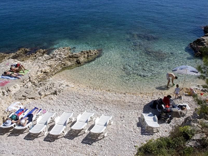 Istrien Strande In Rabac Istrien Kroatien Fotos Karte