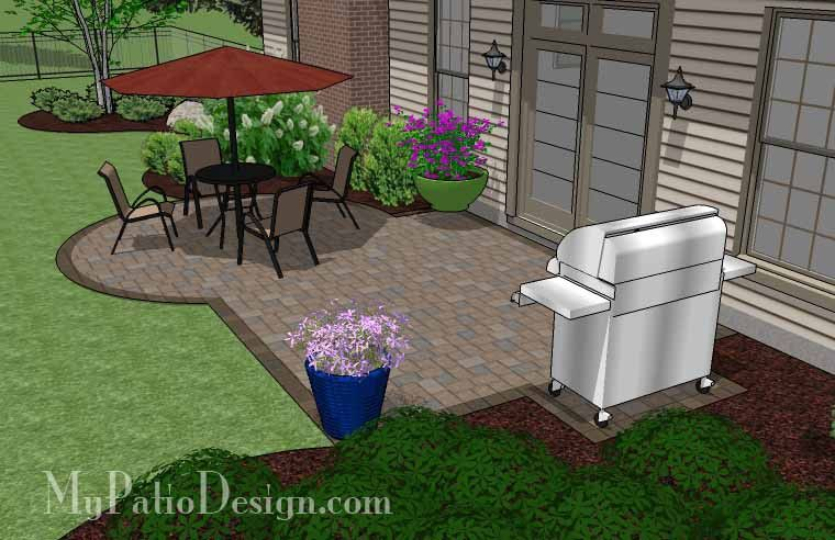 Great For A DIY Project, The Small Patio Design On A Budget Features 295 Sq