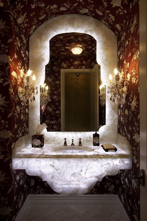 Back-lit onyx vanity ~ fabulous!!