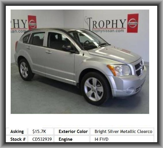 2012 Dodge Caliber Sxt Wagon Stability Control Wheel Width 6 5 Cargo Area Light Front Hip Room 52 2 Painted Dodge Caliber Impact Doors Door Reinforcement