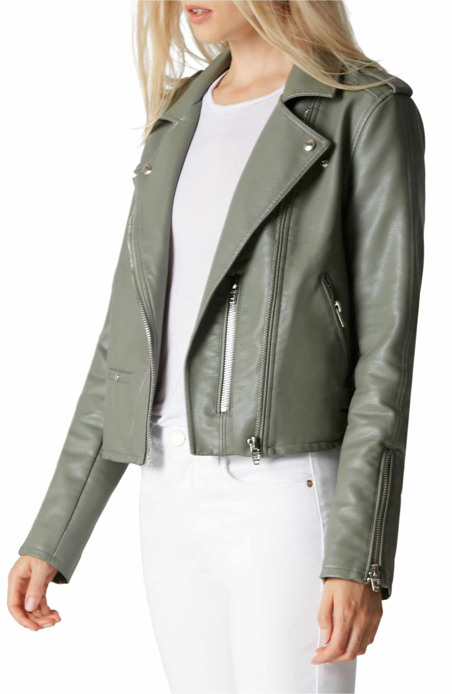 BLANKNYC Faux Leather Moto Jacket Nordstrom jackets